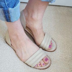 J. Crew Nude Slides Flats Sandals Size 8